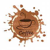 coffee design over background vector illustration