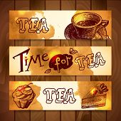 coffee and tea banners