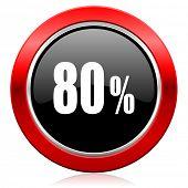 80 percent icon sale sign