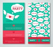 Beautiful greeting or invitation cards with speech bubbles pattern.
