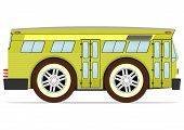 stock photo of motor-bus  - Funny old American bus - JPG