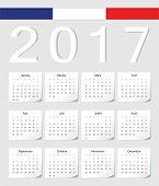 French 2017 Calendar