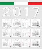 Italian 2017 Calendar