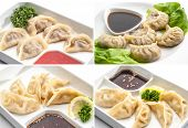 image of shiting  - Set of different meat dumplings  - JPG