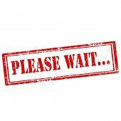 Please Wait-stamp