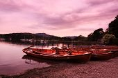 Boats At Ambleside, Lake District