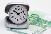 stock photo of last day work  - Clock and money  - JPG