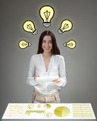 Businesswoman with great ideas