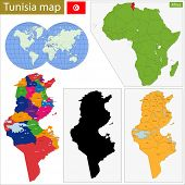 Administrative division of the Republic of Tunisia.