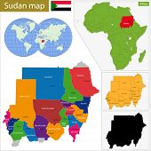 Administrative division of the Republic of the Sudan