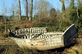 Wooden Boat Wreck