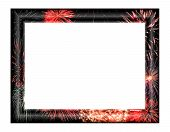 Frame With Fireworks