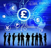Vector of business and global finance.