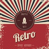 space rocket retro theme