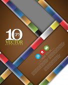 eps10 vector cartoon diagonal thick bar multicolored lines concept background design
