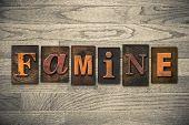 Famine Concept Wooden Letterpress Type