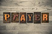 Prayer Concept Wooden Letterpress Type