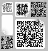 pic of qr codes  - Set of labels with qr codes  - JPG