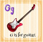 picture of g-string  - Illustration of an alphabet g is for guitar - JPG