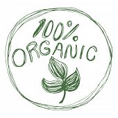 An image of a one hundred percent organic label.