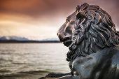 Lion Statue At Lake Starnberg