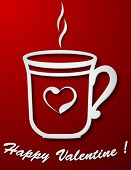 card with Valentine coffee cup