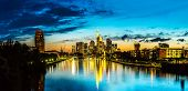 pic of frankfurt am main  - View of Frankfurt am Main skyline at sunset in Germany - JPG