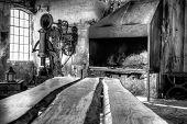 Interior of an old workshop