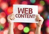 Web Content card with colorful background with defocused lights