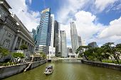 View Of Singapore River And Downtown Singapore
