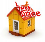 House and Best Price (clipping path included)