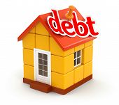 House and debt (clipping path included)