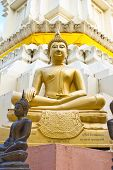 image of samadhi  - The dignify golden Budhha on Samadhi performed - JPG