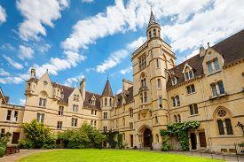 stock photo of quadrangles  - Front Quadrangle at Balliol College - JPG