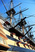 picture of battle  - HMS Victory was Admiral Horatio Nelson - JPG