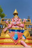 pic of hindu  - Statue of Hindu God Ganesha sitting under sunlight - JPG