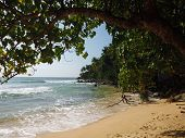 pic of deserted island  - views of the ocean on a deserted beach - JPG