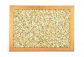 stock photo of buckwheat  - Colorful and crisp image of buckwheat on white - JPG
