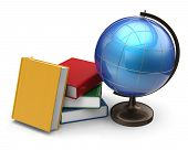 pic of geography  - Books globe blank global geography studying literature icon concept - JPG