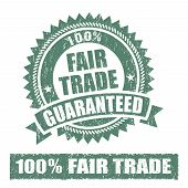 stock photo of trade  - A set of Fair Trade Rubber Stamp - JPG