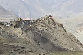 image of mustang  - Gompa or Monastry in Jharkot Mustang district Nepal - JPG