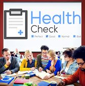 foto of check  - Health Check Insurance Check Up Check List Medical Concept - JPG