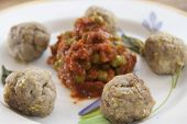 picture of meatball  - little meatballs of pig with aromatic herbs and filling - JPG