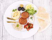 foto of pita  - falafel - JPG