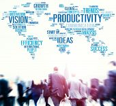 stock photo of efficiencies  - Productivity Vision Idea Efficiency Growth Success Solution Concept - JPG