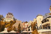 picture of fall day  - Chateau Frontenac in Quebec city - JPG