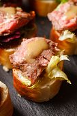 picture of canapes  - canape with beef meat - JPG