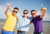 stock photo of bachelor party  - summer holidays - JPG