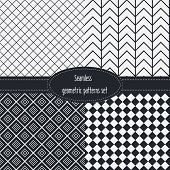 foto of color spot black white  - Geometric Seamless Patterns Set - JPG