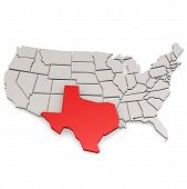 stock photo of texas map  - Texas map image with hi - JPG
